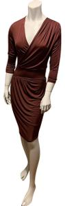 Robert Rodriguez Asymmetrical Draped Silk Wrap Dress
