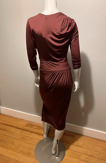 Robert Rodriguez Asymmetrical Draped Silk Wrap Dress Image 2