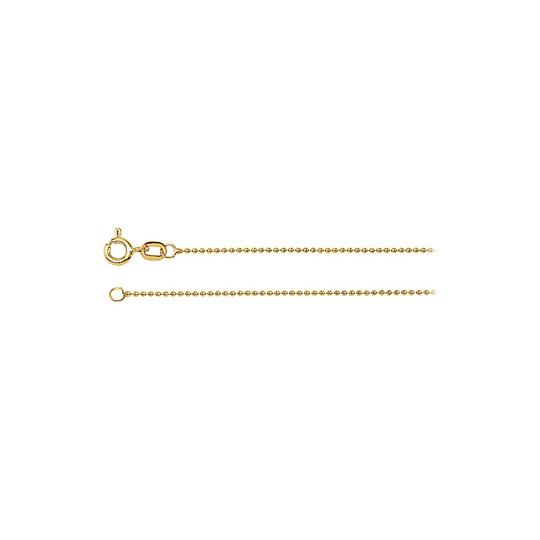 Preload https://img-static.tradesy.com/item/24391970/yellow-solid-bead-chain-14k-gold-1mm-necklace-0-0-540-540.jpg