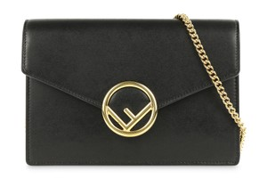 Fendi Logo Woc Wallet Clutch Shoulder Cross Body Bag