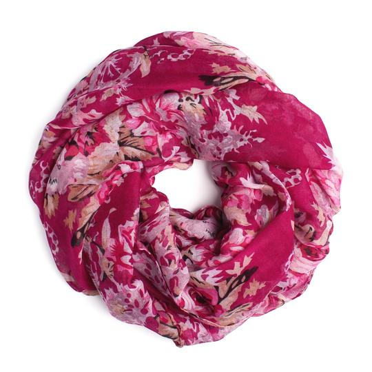 Riah Fashion Floral Infinity Scarf Image 0