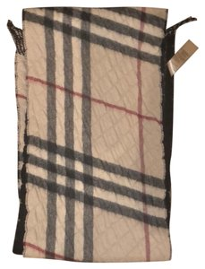 Burberry Burberry Double Sided Wool and Cashmere Scarf