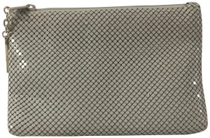 Whiting & Davis Case Pewter Grey Clutch