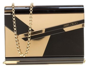 Jimmy Choo Acrylic Suede Satin Leather Multicolor Clutch