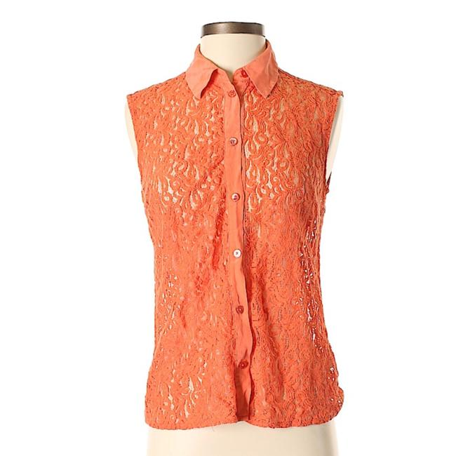 Preload https://img-static.tradesy.com/item/24392318/equipment-orange-sleeveless-lace-shirt-button-down-top-size-0-xs-0-0-650-650.jpg