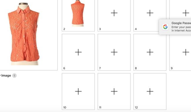 Equipment Button Down Shirt orange Image 2