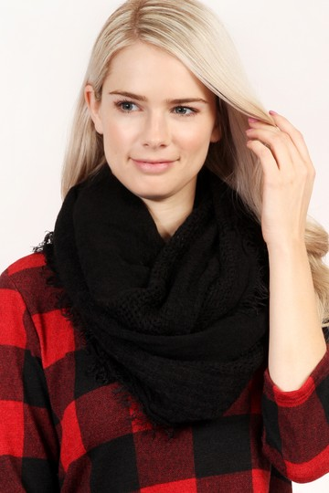 Riah Fashion Soft Fall Infinity Scarf Image 3