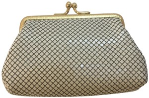 Whiting & Davis Whiting and Davis Kiss Lock Change Purse cream colored