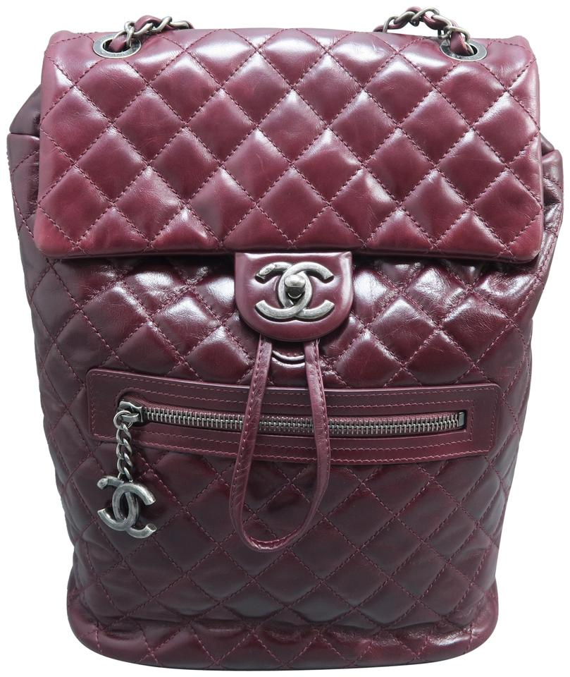 b3a19932a80d Chanel Drawstring Backpack 2016 Small Urban Spirit Purplish Red ...