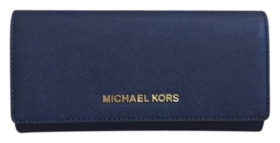 dd11556668c1 Michael Kors Michael Kors Jet set carryall Leather Wallet navy Image 0 ...