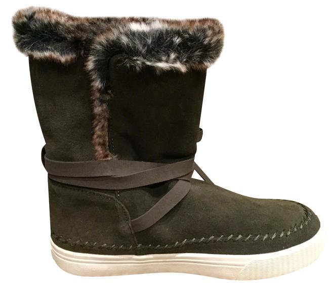 Item - Army Green Vista Waterproof Suede Fur Boots/Booties Size US 7.5 Regular (M, B)