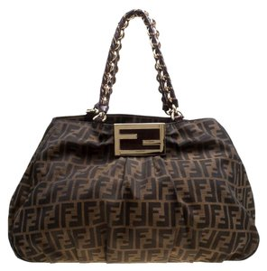 Fendi Canvas Tote in Brown