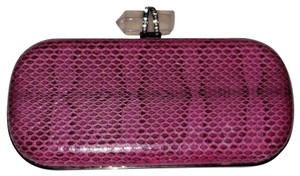 Marchesa Snakeskin Leather Eveningbag Runway Shoulderbag pink Clutch