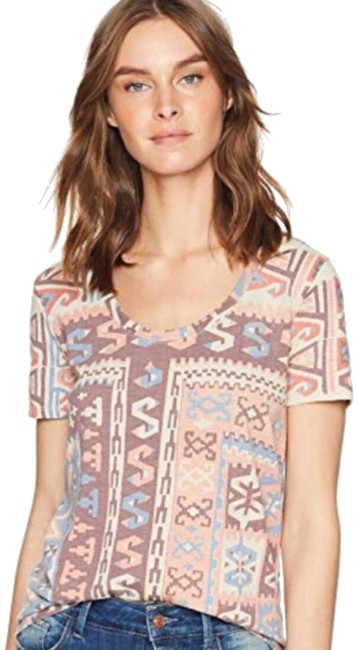 Lucky Brand Multi-color XS Over Tee Shirt Size 0 (XS) Lucky Brand Multi-color XS Over Tee Shirt Size 0 (XS) Image 1