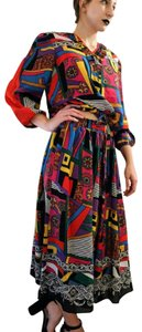 American Vintage short dress Multicolored Bold Geometric Graphic Whimsical on Tradesy