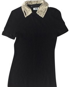 Moschino Top black/ pearls
