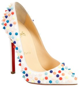 Christian Louboutin Pigalle White, Multicolor Pumps