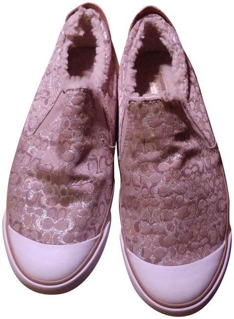 Item - Gold/Silver Metallic and Fur Lined / A1318 Sneakers Size US 9.5 Regular (M, B)