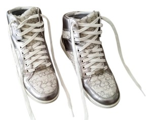 Coach Hi-top Sneakers White/Silver Athletic