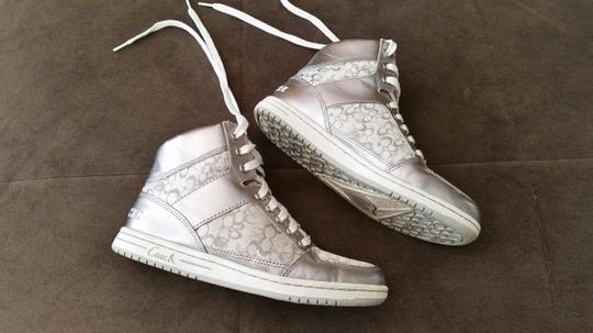 Coach Hi-top Sneakers White/Silver Athletic Image 1