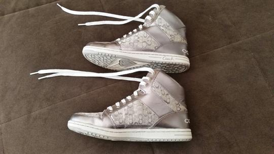 Coach Hi-top Sneakers White/Silver Athletic Image 2