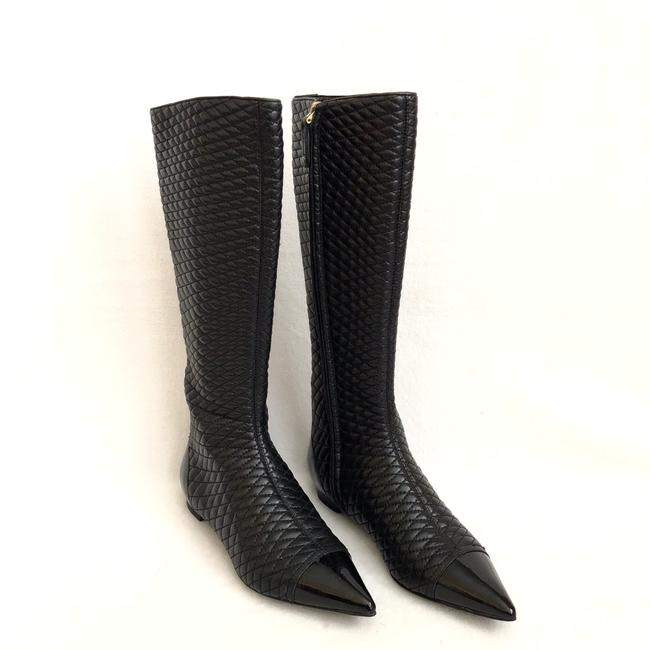 Item - Black Quilted Leather Boots/Booties Size US 5.5 Regular (M, B)