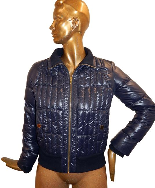 Item - Navy Blue Quilted Puffer Full Zip Down Jacket Size 6 (S)
