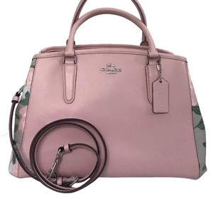 Coach Carryall 57492 57631 Margot Satchel in SILVER/BLUSH MULTI