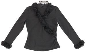 Samuel Dong Party Ruffle Top Black
