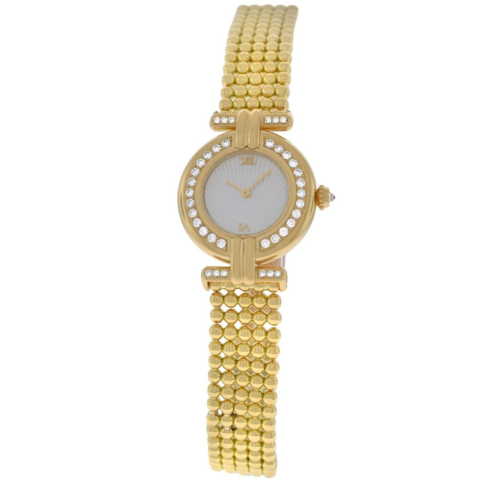 b1605f7bb975 Cartier Ladies Cartier Colisee 1980 Quartz Solid 18K Yellow Gold Diamond  24MM Image 0 ...