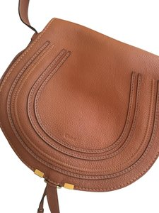 Chloé Cognac Pebbled Leather Cross Body Bag