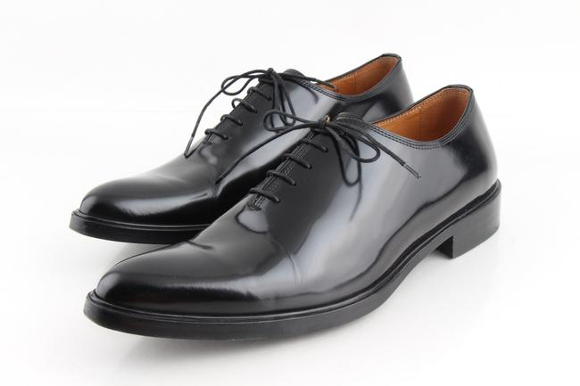 Item - Black Polished Leather Derby Lace Oxfords Shoes