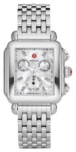 Michele Silver Bracelet Mother Of Pearl Diamond Dial Deco Mww06p000014
