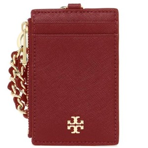Tory Burch Tory Burch Emerson Textured Saffiano Leather Lanyard Red-603
