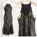 Keepsake the Label Lace Mermaid Lace High Neck Lace Lace Fitted Dress Image 5
