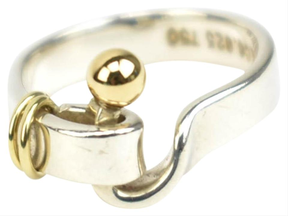 5269dc84a Tiffany & Co. Sterling Silver/ 18k Gold Buckle (Z) Ring - Tradesy