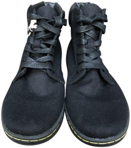 Dr. Martens Canvas High Top Sneakers Black Boots