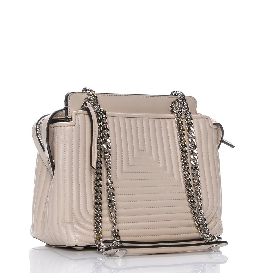 28ad522ffce6 Fendi Dotcom Click Leather Quilted Satchel in Beige Image 10. 1234567891011