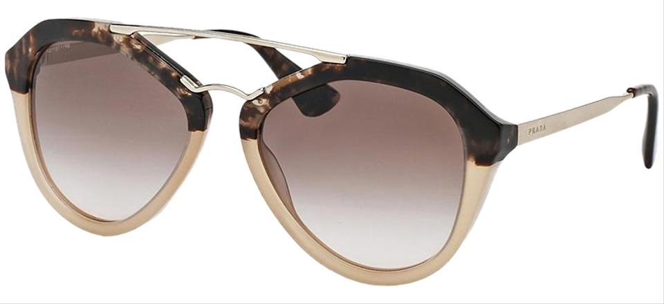 7c0d8bd9c4764 Prada Havana Gradient Beige Frame   Brown Lens Women Cat Eye Sunglasses