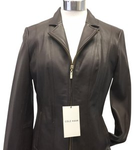 Cole Haan bwonw Leather Jacket