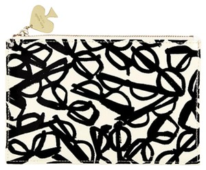 Kate Spade New With Tags BLACK cream Clutch