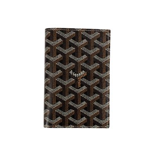 Goyard NWT Grenelle Black Chevron Passport Holder