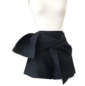 C/meo Collective Origami Skirt High Waist Tie Dress Shorts BLACK