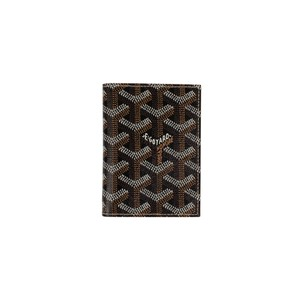 Goyard NWT Saint Marc's Black Chevron Card Case Wallet