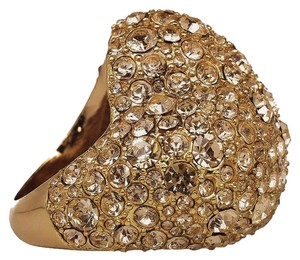 Marc by Marc Jacobs Marc by Marc Jacobs Gold Heart Pave Crystal Cocktail Ring Multi Sized