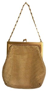 Whiting & Davis Vintage Mesh Metallic Chic Baguette