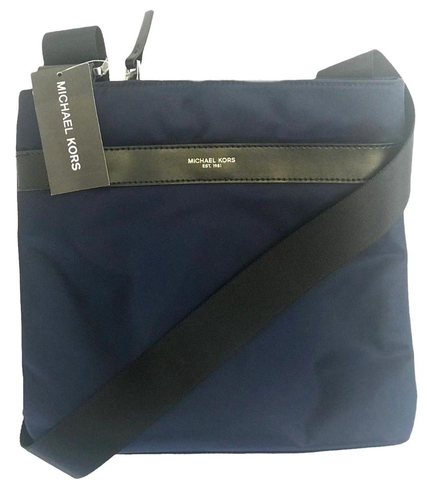 0e28cf329df5b9 Michael Kors New Mens Kent Indigo Medium Shoulder Blue Nylon Cross Body Bag
