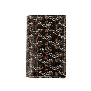 Goyard NWT Saint Pierre Black Chevron Card Holder Wallet