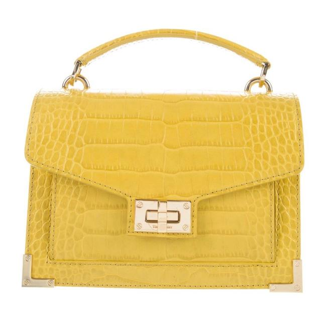 Item - Emily Satchel Yellow Leather Cross Body Bag