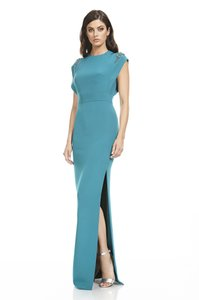 Theia Silk Gown Evening Beaded Embellished Dress
